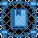 Data Education Big Data Blockchain Icon