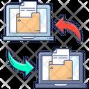 Data Exchange Data Swipe Data Transformation Icon