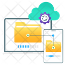 Data Transfer Data Exchange Folder Transformation Icon