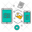 Data Exchange Technology Icon