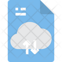 Cloud Data File Cloud Data File Icon