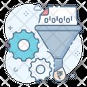 Data Filtration Marketing Funnel Data Filter Icon