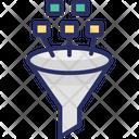 Data Filter Development Process Digital Conversion Icon