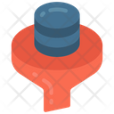 Data Filtering Funnel Storage Icon