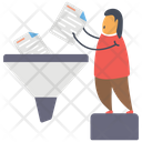 Data Filtering Data Extraction Business Funnel Icon