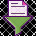 Data Filtering Data Filter File Filter Icon