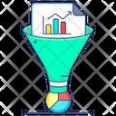 Data Screening Data Filtering Filter Funnel Icon
