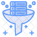 Data Filter Filter Tunnel Data Research Icon