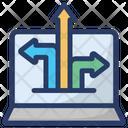 Data Flow Data Transfer Online Data Transformation Icon