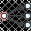 Data Flow Algorithm Chart Icon