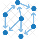 Data Flow Flow Chart Connection Icon