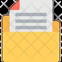Data Folder Data Storage Document Icon