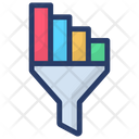 Funnel Chart Conversion Rate Data Filtration Icon
