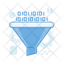 Funnel Analysis Data Funnel Conversion Rate Icon