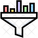 Data Funnel Funnel Data Icon