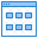 Data Grid Report Chart Icon