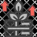 Data Growth Up Database Icon