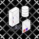Internet Hosting Data Hosting Data Storage Icon