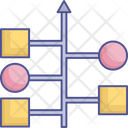 Algorithm Data Infrastructure Flowchart Icon