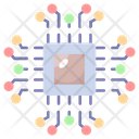 Data Infrastructure Semiconductor Network Icon
