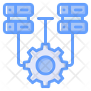 Data Integrated Data Management Data Processing Icon