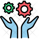 Helper Integration Gearwheel Icon