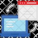 Data Data Interchange Data Sharing Icon