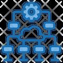 Data Level Big Data Blockchain Icon