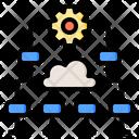 Data Level Big Data Online Icon