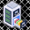 Document Management Data Library Server Drawer Icon