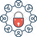 Data Locked Network Locked Big Data Icon