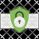 Data Locked Security Digital Padlock Icon