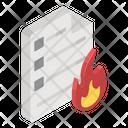 Data Loss Data Burn Destroyed Data Icon