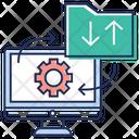 Data Transfer Data Synchronization Data Management Icon
