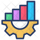 Graphical Management Data Management Combine Data Icon