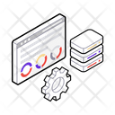 Data Management Data Storage Data Security Icon