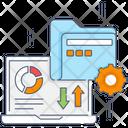 Data Management Content Management Business Management Icon