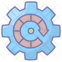 Data Management Production Gear Icon