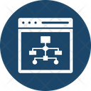 Data Management Data Processing Data Visualization Icon