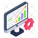 Data Settings Data Management Analytics Management Icon