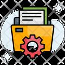 Data Management Data Configuration Icon