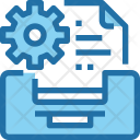 Data Management Document Icon