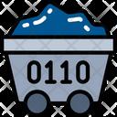 Data Mining Coal Digging Icon