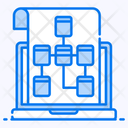 Data Model Algorithm Data Flow Icon