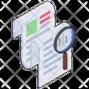 Data Analysis Data Monitoring Document Verification Icon