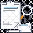 Data Analysis Data Examine Data Testing Icon