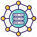 Data Network Data Structure Data Organization Icon