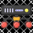 Data Server Network Data Network Server Network Icon