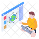 Data Networking Icon