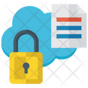 Locked Data Protected Data Data Safety Icon